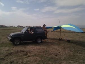 Utilajul de cărat deltaplanul la decolare